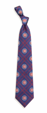 Chicago Cubs Woven Poly 2 Necktie