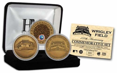 "Chicago Cubs Wrigley Field ""100th Anniversary"" 3-Coin Set"