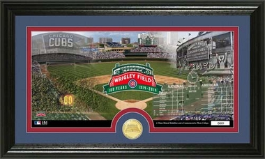 """Chicago Cubs Wrigley Field """"100th Anniversary"""" Bronze Coin Pano Photo Mint"""