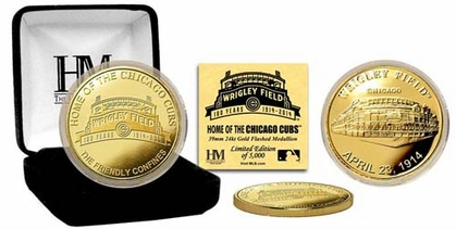 """Chicago Cubs Wrigley Field """"100th Anniversary"""" Gold Coin"""