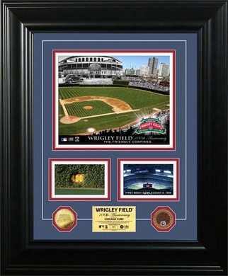 """Chicago Cubs Wrigley Field """"100th Anniversary"""" Marquee Game Used Dirt Coin Photo Mint"""