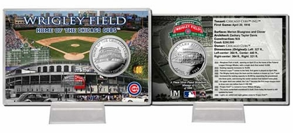 """Chicago Cubs Wrigley Field """"100th Anniversary"""" Silver Coin Card"""
