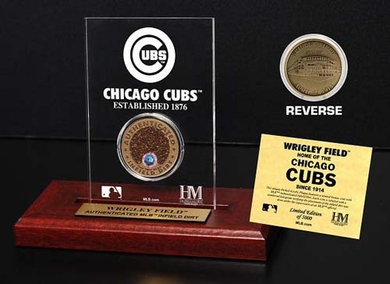 Chicago Cubs Wrigley Field Infield Dirt Coin Etched Acrylic