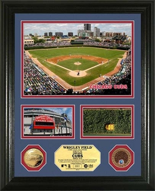 "Chicago Cubs Wrigley Field Infield Dirt Coin ""Showcase"" Photo Mint"