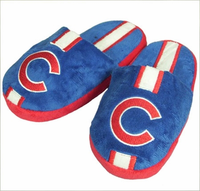 Chicago Cubs YOUTH Team Stripe Slide Slippers