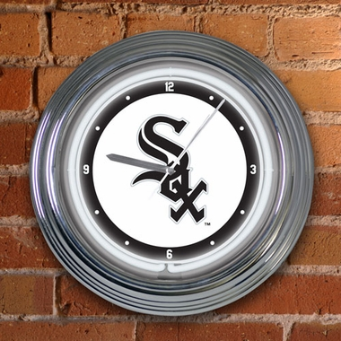 Chicago White Sox 15 Inch Neon Clock