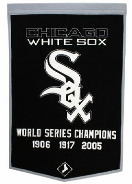 """Chicago White Sox 24""""x36"""" Dynasty Wool Banner"""