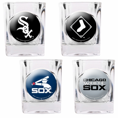 Chicago White Sox 4 Piece Assorted Shot Glass Set