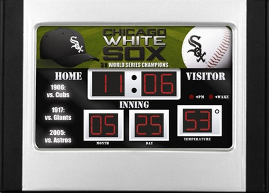 Chicago White Sox Alarm Clock Desk Scoreboard