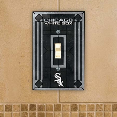 Chicago White Sox Art Glass Lightswitch Cover
