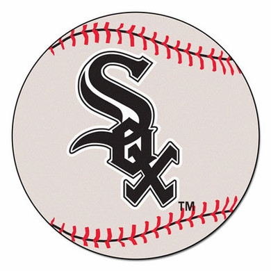 Chicago White Sox Baseball Shaped Rug