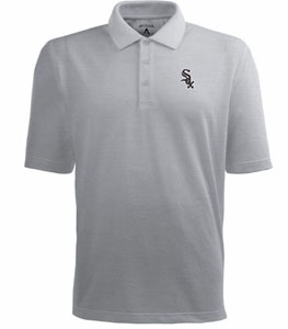 Chicago White Sox Mens Pique Xtra Lite Polo Shirt (Color: Gray) - Large