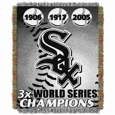Chicago White Sox Commerative Jacquard Woven Blanket