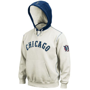Chicago White Sox Cooperstown Natural Hooded Sweatshirt - Medium