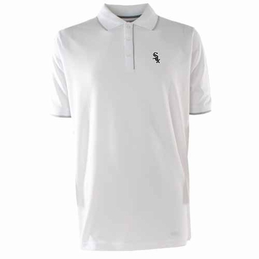 Chicago White Sox Mens Elite Polo Shirt (Color: White)