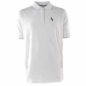 Chicago White Sox Mens Elite Polo Shirt (Color: White) - Large