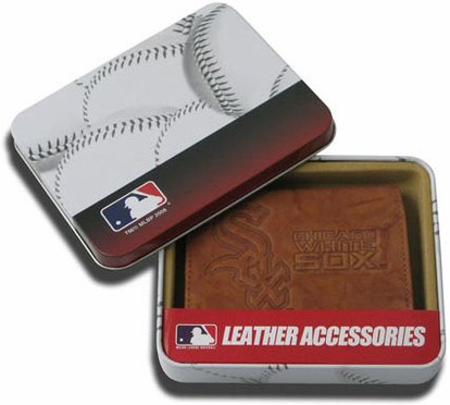 Chicago White Sox Embossed Leather Trifold Wallet