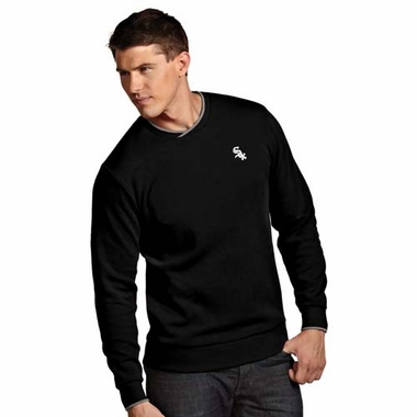 Chicago White Sox Mens Executive Crew Sweater (Team Color: Black)