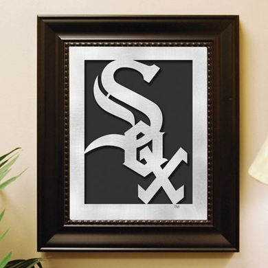 Chicago White Sox Framed Laser Cut Metal Wall Art