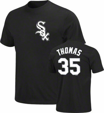 Chicago White Sox Frank Thomas Name and Number T-Shirt
