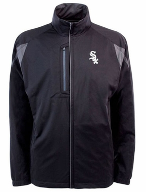 Chicago White Sox Mens Highland Water Resistant Jacket (Team Color: Black)