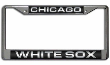 Chicago White Sox Laser Etched Chrome License Plate Frame