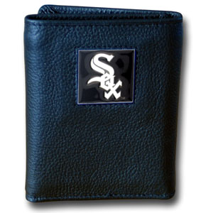 Chicago White Sox Leather Trifold Wallet (F)