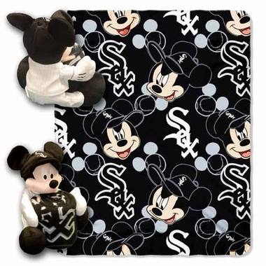 Chicago White Sox Mickey Mouse Pillow / Throw Combo