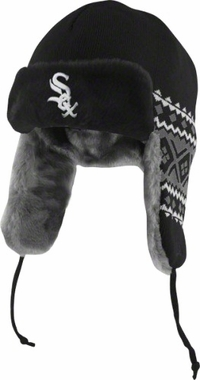 Chicago White Sox New Era Team Trapper Knit Trooper Hat