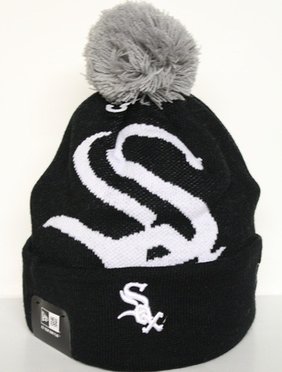 Chicago White Sox New Era Woven Biggie Cuffed Knit Hat