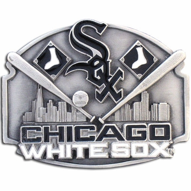 Chicago White Sox Enameled Belt Buckle