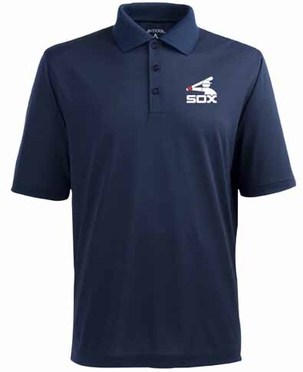 Chicago White Sox Mens Pique Xtra Lite Polo Shirt (Cooperstown) (Team Color: Navy)