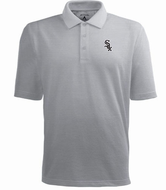 Chicago White Sox Mens Pique Xtra Lite Polo Shirt (Color: Gray)