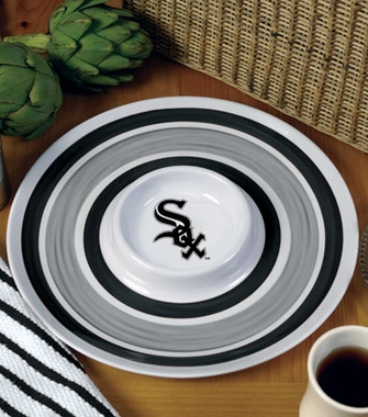 Chicago White Sox Plastic Chip and Dip Plate