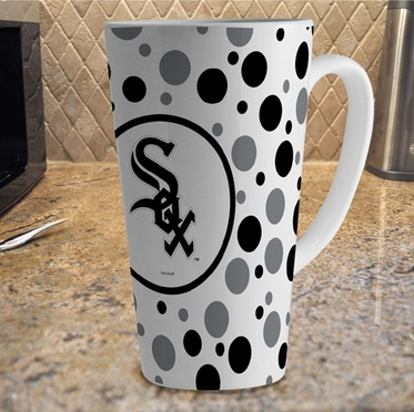 Chicago White Sox Polkadot 16 oz. Ceramic Latte Mug