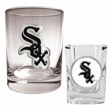 Chicago White Sox Rocks and Shot Glass Set
