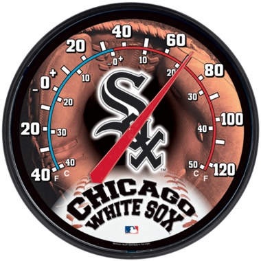 Chicago White Sox Round Wall Thermometer
