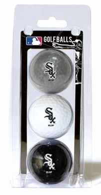 Chicago White Sox Set of 3 Multicolor Golf Balls