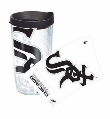 Chicago White Sox Set of TWO 16 oz. Tervis Wrap Tumblers w/ Lids