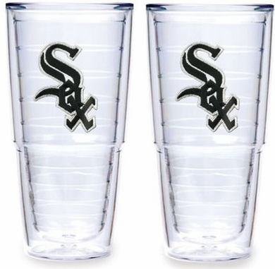 """Chicago White Sox Set of TWO 24 oz. """"Big T"""" Tervis Tumblers"""