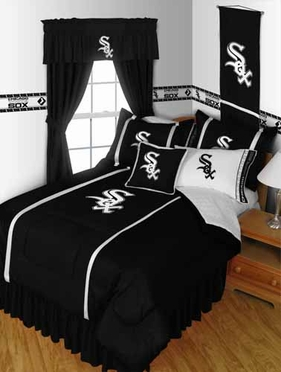 Chicago White Sox SIDELINES Jersey Material Comforter