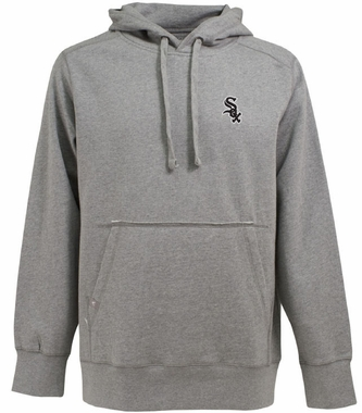 Chicago White Sox Mens Signature Hooded Sweatshirt (Color: Gray)