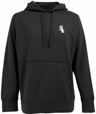 Chicago White Sox Mens Signature Hooded Sweatshirt (Team Color: Black)