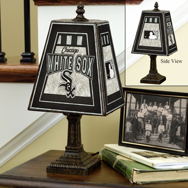 Chicago White Sox Small Art Glass Lamp