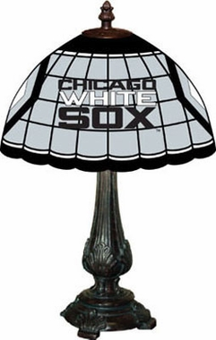 Chicago White Sox Stained Glass Table Lamp