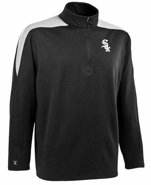 Chicago White Sox Mens Succeed 1/4 Zip Performance Pullover (Team Color: Black)