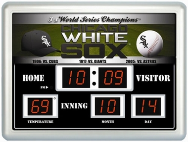 Chicago White Sox Time / Date / Temp. Scoreboard