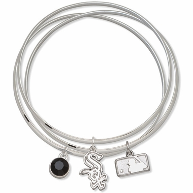 Chicago White Sox Triple Bangle Bracelet