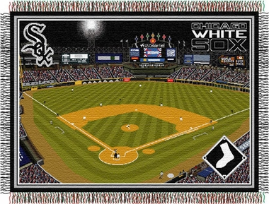 Chicago White Sox US Cellular Field Woven Tapestry Throw Blanket