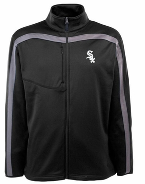 Chicago White Sox Mens Viper Full Zip Performance Jacket (Team Color: Black)